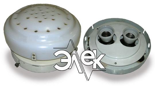 Судовой светильник СС-434УБ двухламповый характеристики СС 434УБ, цена фото каталог судовых корабельных светильников