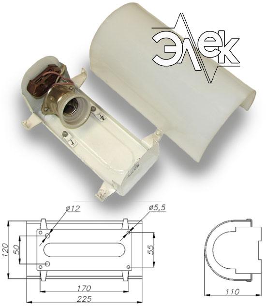 СС-843 судовой светильник переборочный характеристики СС 843, СС-843Б, 843Б, цена фото каталог судовых корабельных светильников