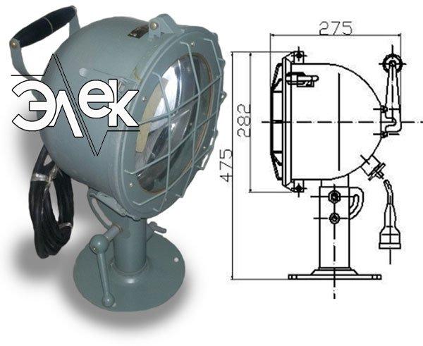 СС-890 судовой светильник прожектор шлюпочный характеристики СС 890М, СС-890М, 890МБ, цена фото каталог судовых корабельных светильников