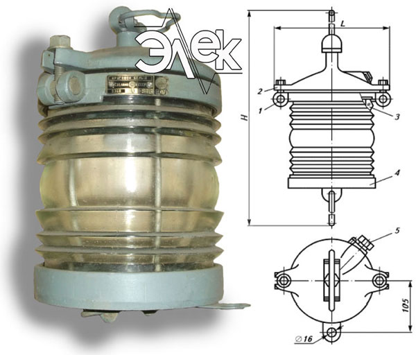 Фонарь 936В, 936, СС-936 В СС936 подвесной белый характеристики, цена фото каталог судовых корабельных светильников
