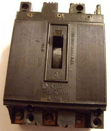 А3163 выключатель автоматический характеристики, цена, купить (автомат А 3163) 15А, 20А, 25А, 30А, 40А, 50А