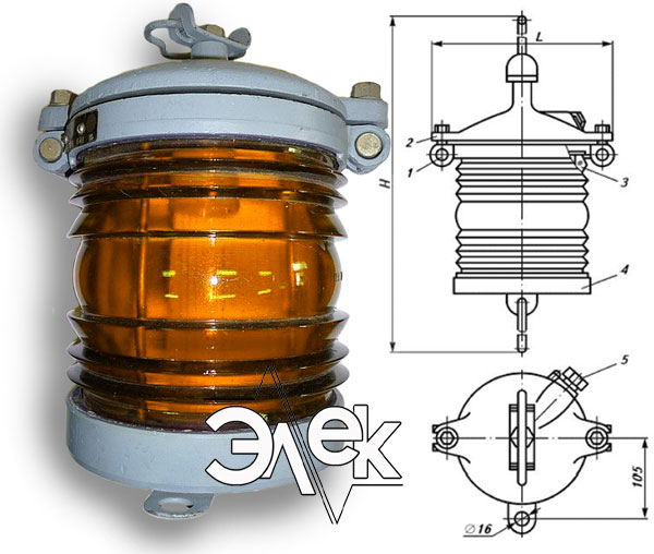 Фонарь 936В-3, 936, СС-936 В-3 СС936 подвесной желтый характеристики, цена фото каталог судовых корабельных светильников