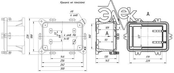 Габаритные размеры СЯ-24-1 (соединительный ящик СЯ24-1) купить характеристики цена