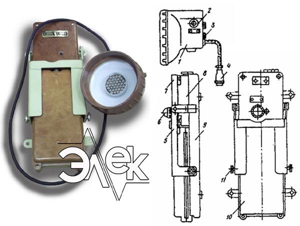 СС-1155 судовой светильник аккумуляторный переносный характеристики СС 1155М, СС-1155М, СС-1155М-01, 1155М, цена фото каталог судовых корабельных светильников