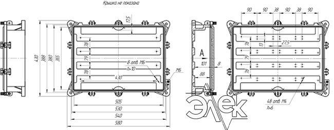 Габаритные размеры СЯ-112-3 (соединительный ящик СЯ112-3) купить характеристики цена