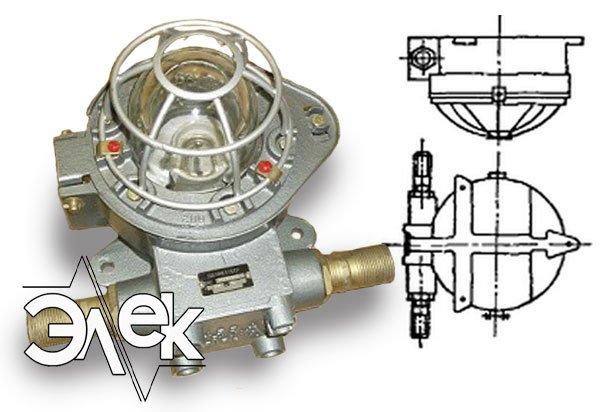 ВЧА-60 взрывозащищенный светильник характеристики В 4А 60 взрывобезопасный цена фото каталог судовых корабельных светильников