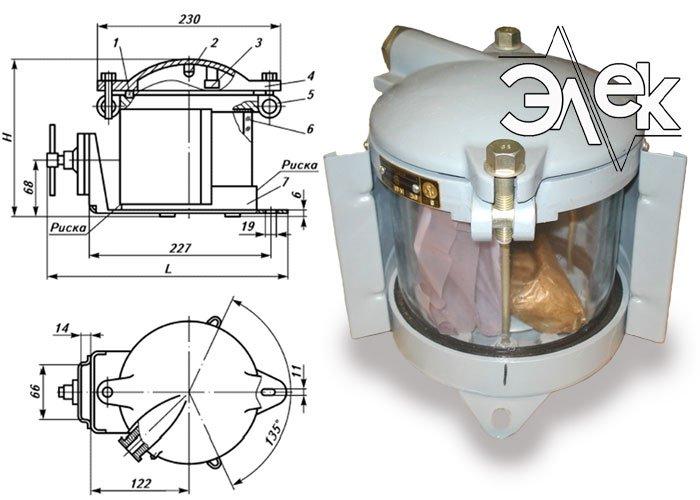 Фонарь 560МВ, СС-560 МВ кормовой белый характеристики, цена фото каталог судовых корабельных светильников