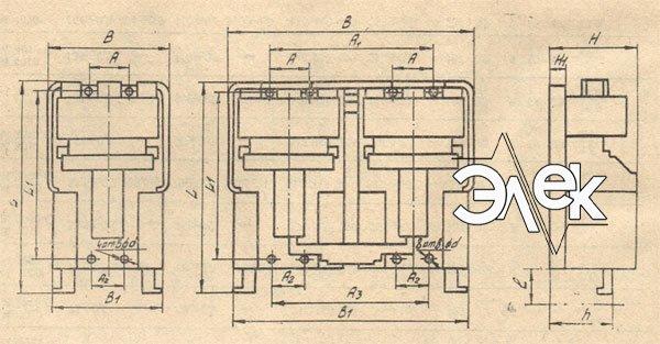 Пускатель ПММ-1020, ПММ-Д 1020 габаритные и установочные размеры, характеристики, купить магнитный пускатель