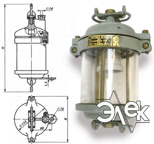 Фонарь 562В, СС-562 В круговой белый характеристики, цена фото каталог судовых корабельных светильников