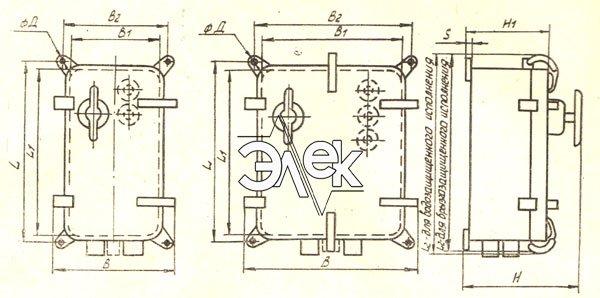 Пускатель ПММ-4114, ПММ-Д 4114 габаритные и установочные размеры, характеристики, купить магнитный пускатель
