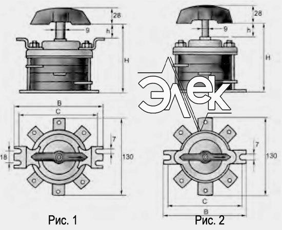 пакетный выключатель ПВ2-60 купить цена, характеристики, выключателя ПВ 2 60