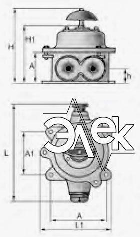 Герметичный пакетный выключатель 25А ГПВ2-25 купить цена, характеристики, выключателя в корпусе ГПВ 2 25