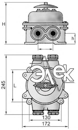 Герметичный пакетный выключатель 60А ГПВ2-60 купить цена, характеристики, выключателя в корпусе ГПВ 2 60