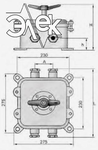 Герметичный пакетный выключатель 100А ГПВ2-100 купить цена, характеристики, выключателя в корпусе ГПВ 2 100