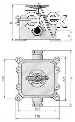 Герметичный пакетный выключатель 100А ГПВ3-100 купить цена, характеристики, выключателя в корпусе ГПВ 3 100