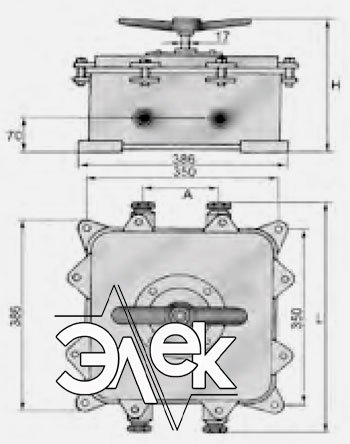 Герметичный пакетный выключатель 250А ГПВ2-250 купить цена, характеристики, выключателя в корпусе ГПВ 2 250