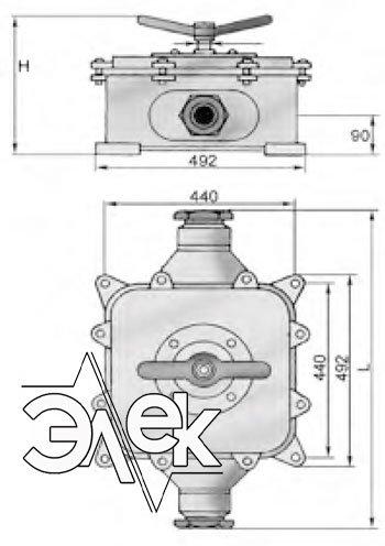 Герметичный пакетный выключатель 250А ГПВ3-250 купить цена, характеристики, выключателя в корпусе ГПВ 3 250