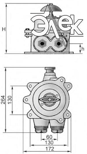 герметичный пакетный переключатель в корпусе 60А ГПП3-60 купить цена, характеристики переключателя в корпусе ГПП 3 60