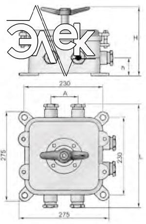герметичный пакетный переключатель в корпусе 100А ГПП2-100 купить цена, характеристики переключателя в корпусе ГПП 2 100