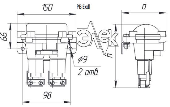 Пост КУ 92 кнопочный пост управления взрывозащищенный РВ Exdl КУ-92 КУ92 характеристики описание продажа купить цена