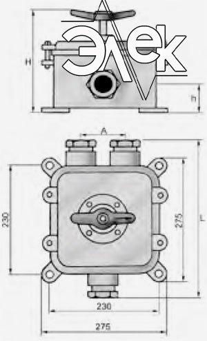 герметичный пакетный переключатель в корпусе 100А ГПП3-100 купить цена, характеристики переключателя в корпусе ГПП 3 100