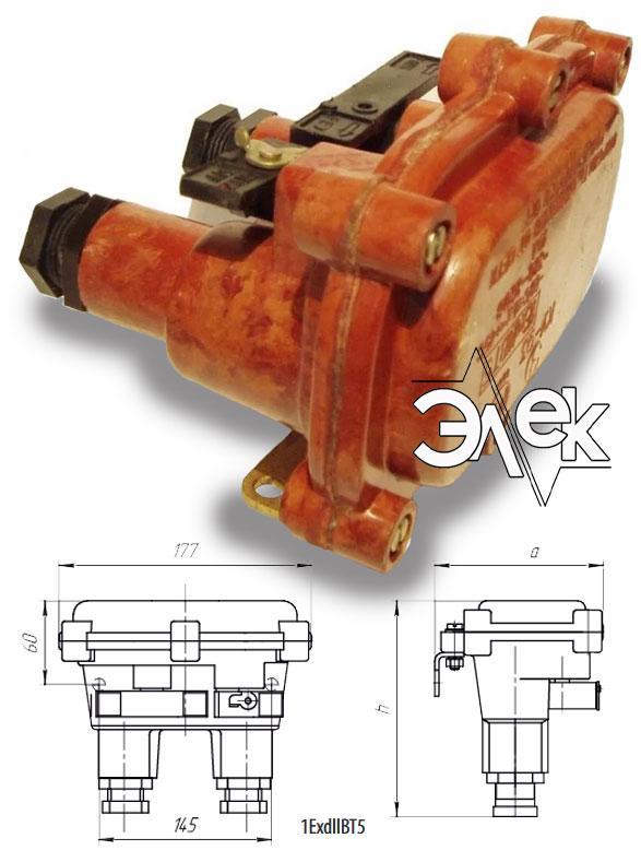 Пост КУ 93 кнопочный пост управления взрывозащищенный 1ExdllВТ5 КУ-93 КУ93 характеристики описание продажа купить цена