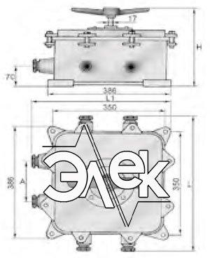 герметичный пакетный переключатель в корпусе 250А ГПП2-250 купить цена, характеристики переключателя в корпусе ГПП 2 250