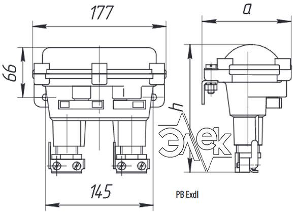 Пост КУ 93 кнопочный пост управления взрывозащищенный РВ Exdl КУ-93 КУ93 характеристики описание продажа купить цена