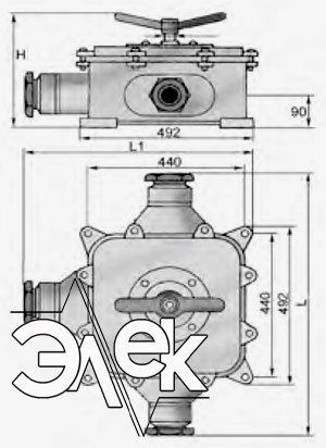 герметичный пакетный переключатель в корпусе 400А ГПП3-400 купить цена, характеристики переключателя в корпусе ГПП 3 400