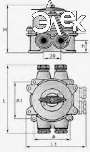 герметичный пакетный переключатель в корпусе 25А ГПП2-25 купить цена, характеристики переключателя в корпусе ГПП 2 25