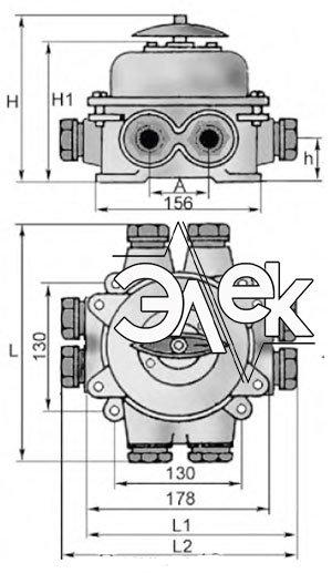 герметичный пакетный переключатель в корпусе 60А ГПП2-60 купить цена, характеристики переключателя в корпусе ГПП 2 60