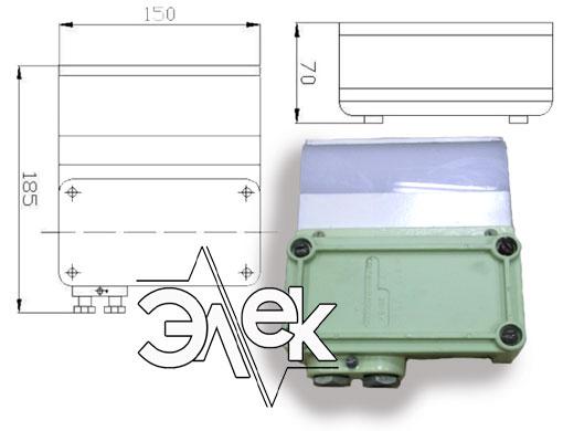 Судовой светильник 192Б, СС-192Б для подсвета колонок характеристики, цена фото каталог судовых корабельных светильников