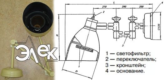 Штурманский судовой светильник 350Б, СС-350 характеристики, цена фото каталог судовых корабельных светильников