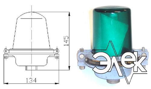 Фонарь 565ЛВ-1, СС-565 ЛВ-1 клотиковый зеленый характеристики, цена фото каталог судовых корабельных светильников