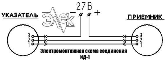 ИД-1 индикаторы, индикатор давления ИД 1 прибор ИД1 электромонтажная схема соединения паспорт сертификат инструкция