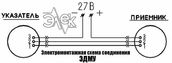 Универсальный электрический дистанционный манометр ЭДМУ-6 указатель манометр, индикаторы, указатель давления ЭДМУ 6 кг прибор ЭДМУ-6 6кг 27 электромонтажная схема соединения паспорт сертификат инструкция