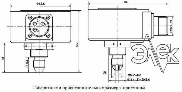 П-15-Н 27 прибор П 15 Н 27в электромонтажная схема соединения паспорт сертификат инструкция габаритные размеры