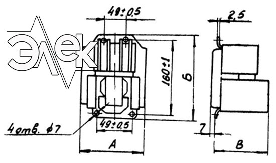 Пускатель ПМТ-1010, ПМТ 1010 габаритные и установочные размеры, характеристики, купить магнитный пускатель