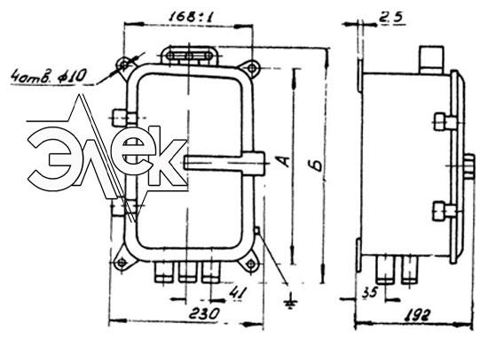 Пускатель ПМТ-1214, ПМТ 1214 габаритные и установочные размеры, характеристики, купить магнитный пускатель