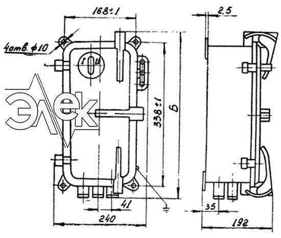 Пускатель ПМТ-1113, ПМТ 1113 габаритные и установочные размеры, характеристики, купить магнитный пускатель