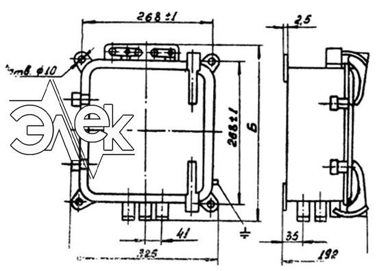 Пускатель ПМТ-1221, ПМТ 1221 габаритные и установочные размеры, характеристики, купить магнитный пускатель