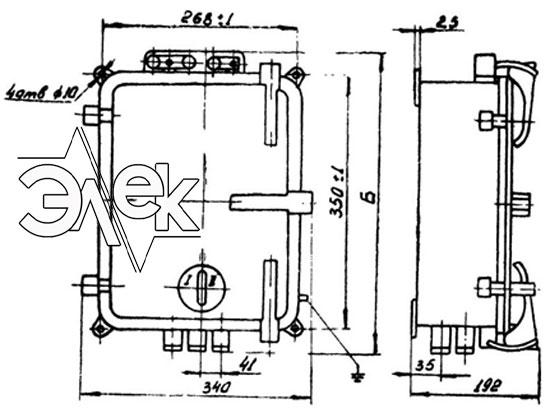 Пускатель ПМТ-1223, ПМТ 1223 габаритные и установочные размеры, характеристики, купить магнитный пускатель