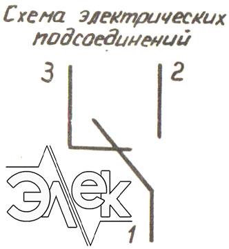 Схема электрических подсоединений датчик-реле температуры ТР-К