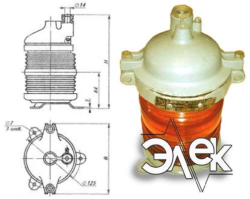 Фонарь 568В-3 М, СС-568 В-3М стационарный желтый характеристики, цена фото каталог судовых корабельных светильников