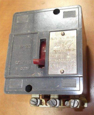 АК 25 323 ОМ5 (АК-25-323-00 ОМ5) автоматический выключатель характеристика, цена, купить автомат (выключатель АК25-323)