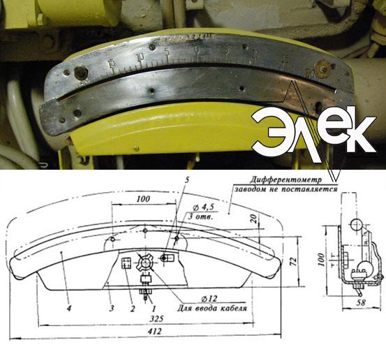 Судовой светильник 629Б, СС-629Б для подсвета дифферентометра характеристики, цена фото каталог судовых корабельных светильников