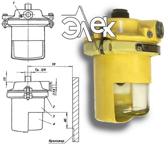 Судовой светильник 630ЛБ, СС-630Л для подсвета креномера характеристики, цена фото каталог судовых корабельных светильников