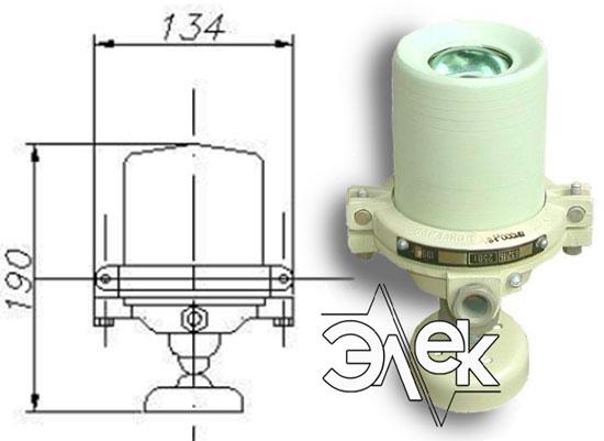 Судовой светильник 632ЛБ, СС-632Л для подсвета шкал приборов, цена фото каталог судовых корабельных светильников