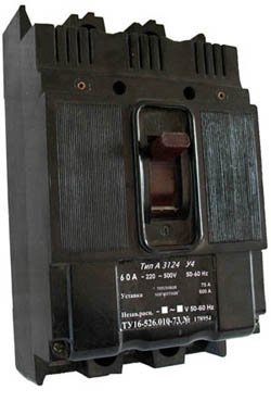 А3124 выключатель автоматический характеристики, цена а-3124, купить (автомат А 3124) от 15А до 100А