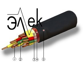 КУПЭВ 4х2х0,35 характеристики кабеля, описание и цена КУПЭВ 4*2*0,35 вес наружный диаметр, масса